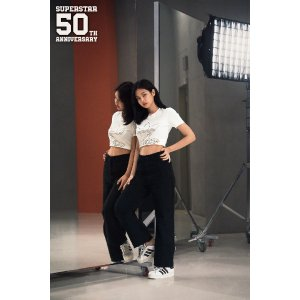 AdidasJennie 同款Superstar Bold 厚底款