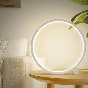 $17.49(原价$34.99)免税史低价:GEPROSMA 高颜值创意环形 LED护眼台灯/装饰灯