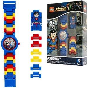 LEGO DC Comics 8020257 Super Heroes Superman Kids Minifigure Link Buildable Watch