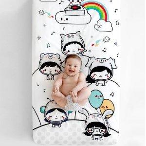 低至$24.99 在家轻松拍大片最后一天:Rookie Humans 婴儿床摄影床笠 每一帧都是美好画面