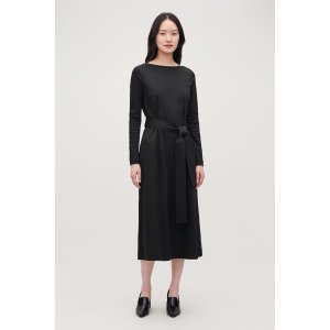 COSBELTED LONG JERSEY DRESS