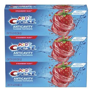 As low as $3.96Amazon Crest Kid's Cavity Protection Fluoride Toothpaste, Strawberry Rush, 3 Count