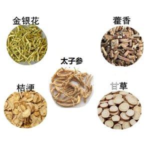GMP Vitas传统中草药配方 5味药 x 3包(金银花、藿香、太子参、桔梗、甘草)