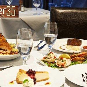 $66 (原价$171)Pier 35 Bar & Grill 精致豪华西餐 + 葡萄酒