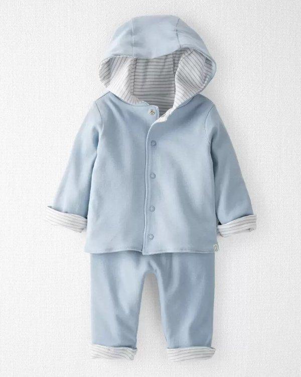 婴儿有机棉2件套