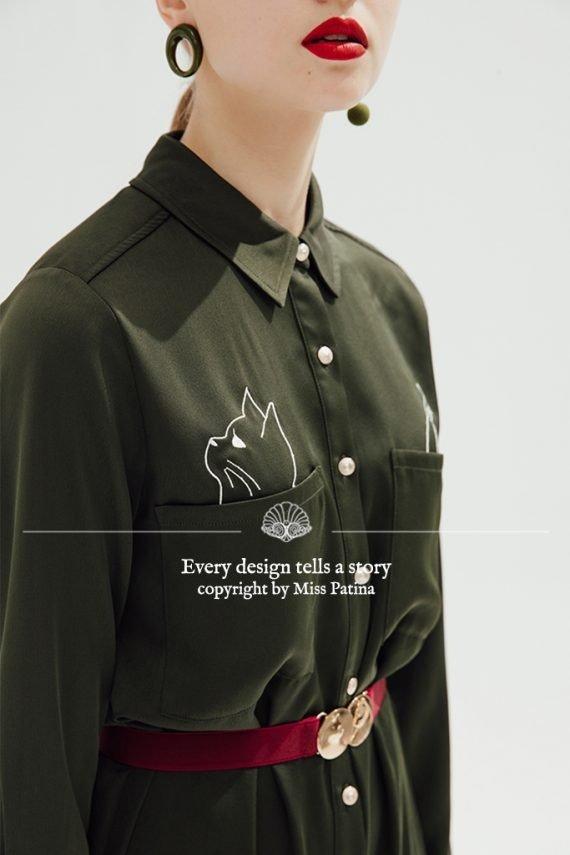 Cool Cat Shirt Dress 猫咪连衣裙