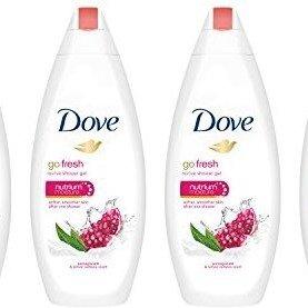 $9.49 近期低价Dove go fresh 石榴味沐浴乳 22oz每瓶4瓶装