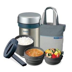直邮含税到手价约$65象印 不锈钢分层式大容量保温桶  健康美食随时享用