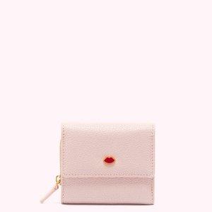 Lulu Guinness裸粉色小钱包