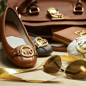额外7.5折+满额送旅行包+包邮Michael Kors 精选美鞋专场 芭蕾平底鞋$52,封面乐福鞋$74