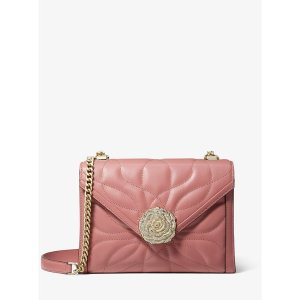 807aab09e81b Michael KorsWhitney Large Petal Quilted Leather Convertible Shoulder Bag