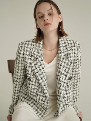 Penny Hounds Tweed Jacket_Ivory  | W Concept