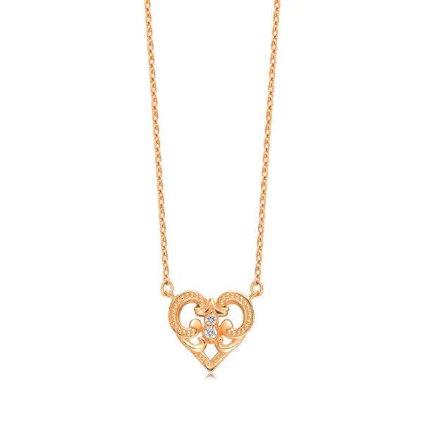 黄金钻石项链