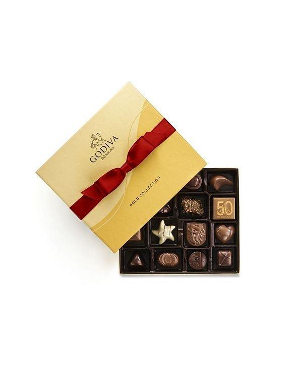 红绸金装巧克力礼盒19颗