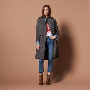 低至5折+额外8折 羊毛大衣$270起Sandro Paris 精选秋冬外套热卖 收羊毛大衣、鹅绒羽绒服