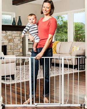 $30Regalo Easy Open 50 Inch Wide Baby Gate @ Amazon.com