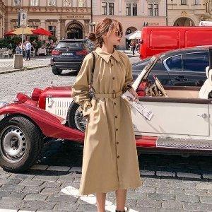 低至3折 系带裸色$430收Farfetch 风衣专场大促 温度和风度都拿捏住