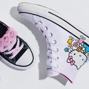 低至5.8折 收藏价值高Converse x Hello Kitty 合作款帆布鞋打折啦