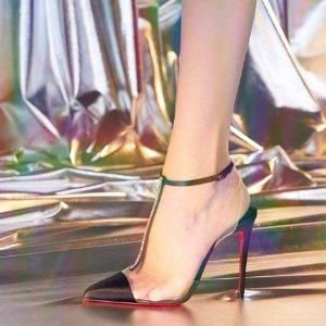 无门槛9折 收铆钉经典款Christian Louboutin 红底鞋罕见折扣