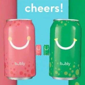 多种口味12罐装$4.06补货:bubly 气泡水 天然水果口味 0卡路里0脂肪 好清爽