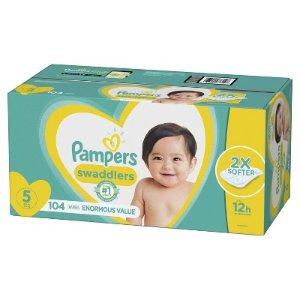 满$100送$20礼卡婴幼儿好奇、帮宝适多款配尿布特卖