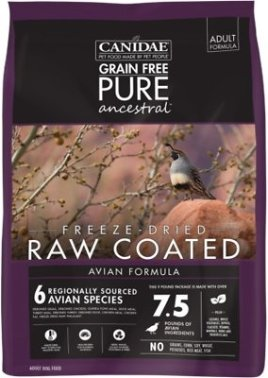 CANIDAE Grain-Free PURE Ancestral Avian Formula Freeze-Dried Raw Coated Dry Dog Food