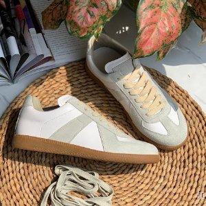 无门槛7折 €133收箭头小白鞋D'Aniello 大牌鞋靴专场 入OW箭头鞋、巴黎世家、马吉拉等