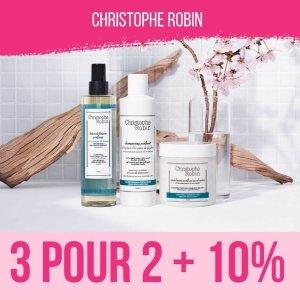 买3免1+额外9折Christophe Robin 洗护发产品端午大促 和夏日油头说拜拜