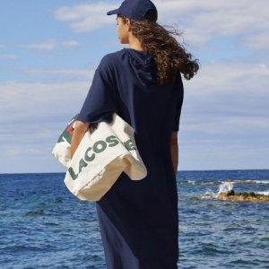 低至5折 封面款降价$89 免邮Lacoste 休闲时尚包包专场 双肩包$65 斜挎包$44
