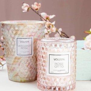 全场75折 低至$10.50Voluspa 浪漫清新香氛 天然椰子蜡与精油的完美组合