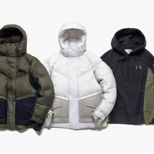 低至6.8折+包邮Nike x Sacai 合作款冬季羽绒服、卫衣等