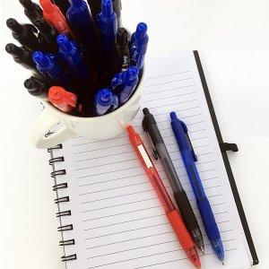 Black Ink 1 Pack of 48 Pieces 1.0mm Medium Point Z-Grip Retractable Ballpoint Pen