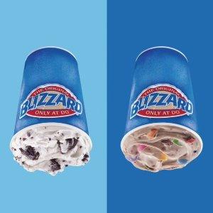 第2个只要$0.99Dairy Queen 暴风雪冰淇凌周末促销 倒杯不洒