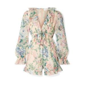 Zimmermann Floral 连体裤