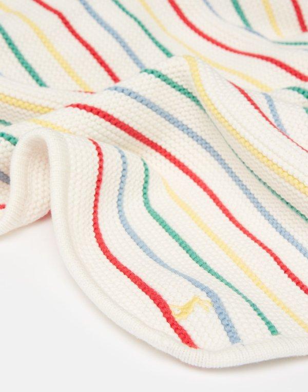 婴儿彩虹针织毯