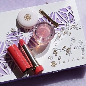 Today Only: Cyber Monday Event!20% off Blushing Lips duo featuring Kissu Lip Mask + new Peony lipstick @ Tatcha