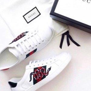 5折起+叠9折 Gucci小白鞋£200就收折扣升级:Mytheresa 大童鞋超好逛 Gucci、GG小脏鞋、Fendi成人款半价收