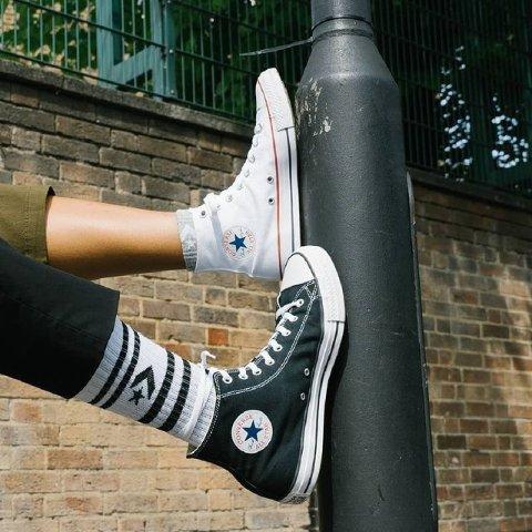 低至3.7折起 小白鞋低至£14起Converse 经典白色专区 超值百搭帆布鞋、休闲服饰大放送