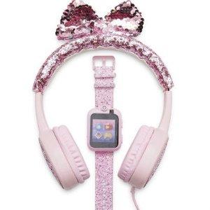 $33.9收一套iTouch 儿童触屏智能手表 + 造型耳机促销