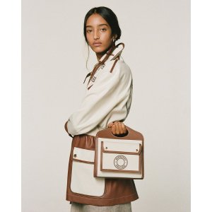 BurberryGet$150 GC or $450 GC with $2000- Mini Pocket Leather-Trimmed Canvas Tote