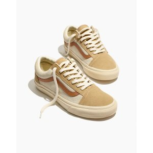 Madewellx Vans® Unisex Old Skool Lace-Up Sneakers in Camel Colorblock