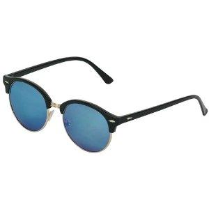 Clubmaster Fashion Sunglasses Black/Gold/Blue