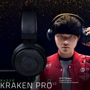 $79.99 Faker同款Razer Kraken Pro V2 游戏耳机 送耳机支架