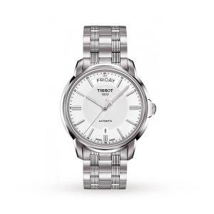 Tissot银色钢链手表