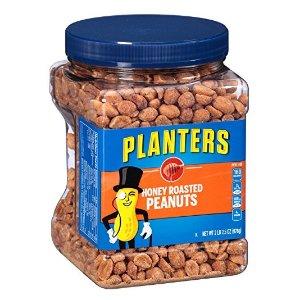 $8.95 包邮Planters 蜂蜜香脆烤花生仁34.5oz 2罐