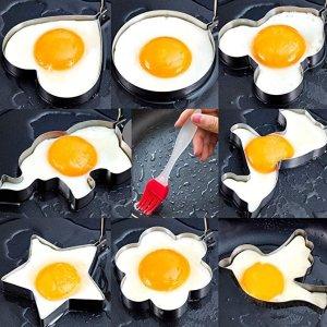 PNBB 不锈钢煎蛋模具,9件套