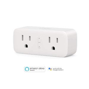 $10.99起 包邮新品: Koogeek Wi-Fi 二合一智能插座兼容Alexa以及Google Assistant