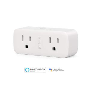 $14.99 新品上市折扣升级:Koogeek Wi-Fi一托二智能插座 兼容Alexa以及Google Assistant