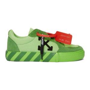 Off-White绿色运动鞋