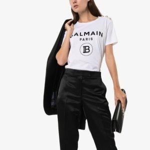 低至5折+额外8折+包税Balmain 女士T恤热卖 $188收经典纽扣T